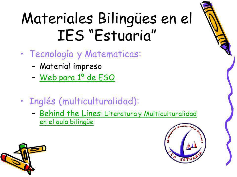 Materiales Bilingües en el IES Estuaria