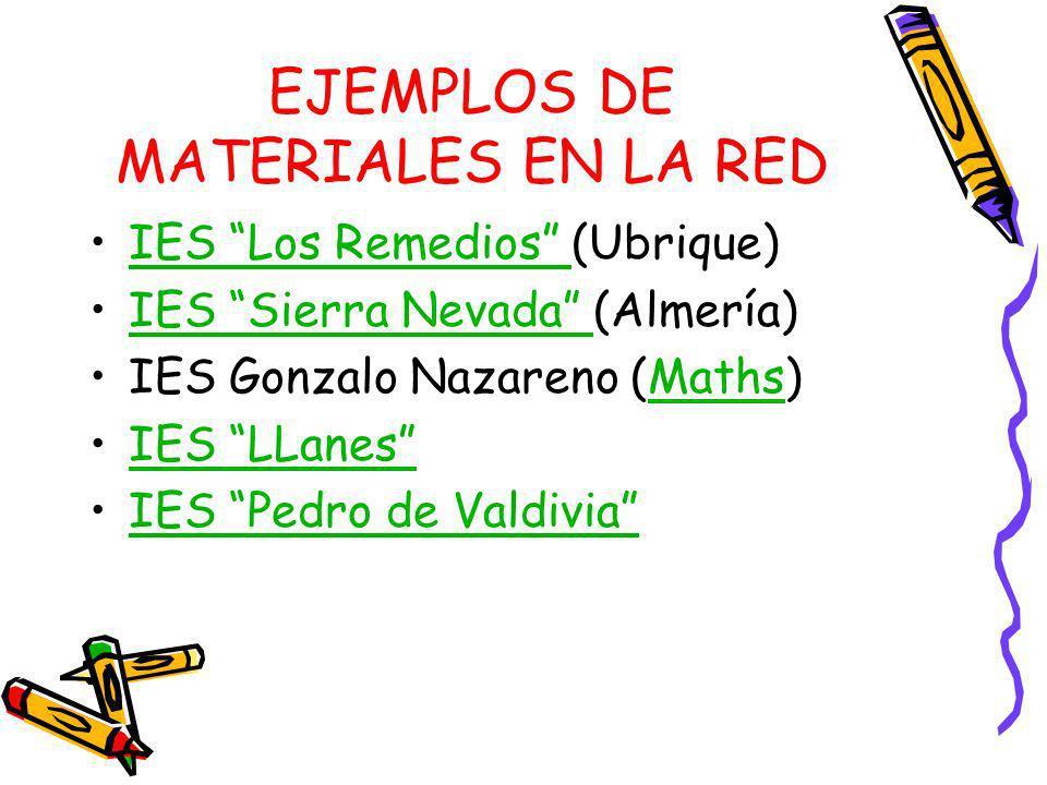 EJEMPLOS DE MATERIALES EN LA RED