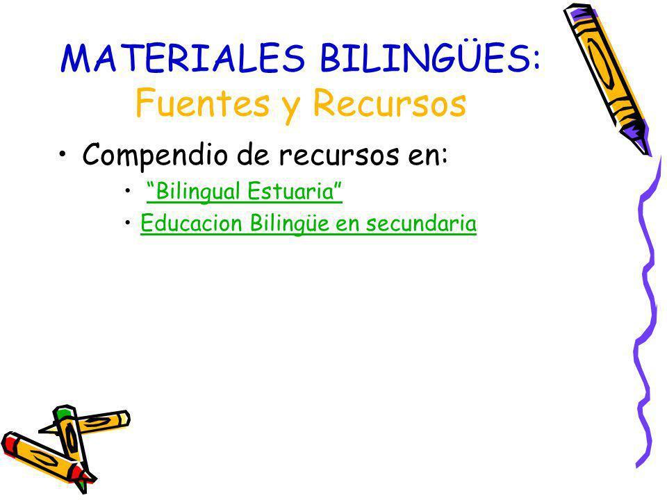 MATERIALES BILINGÜES: Fuentes y Recursos