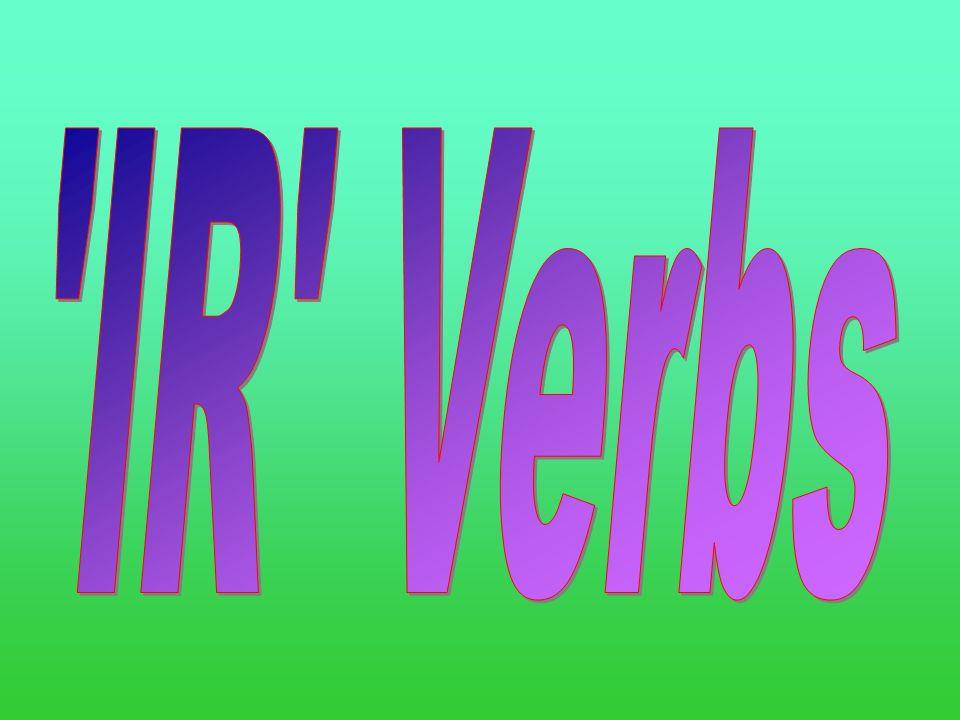 IR Verbs