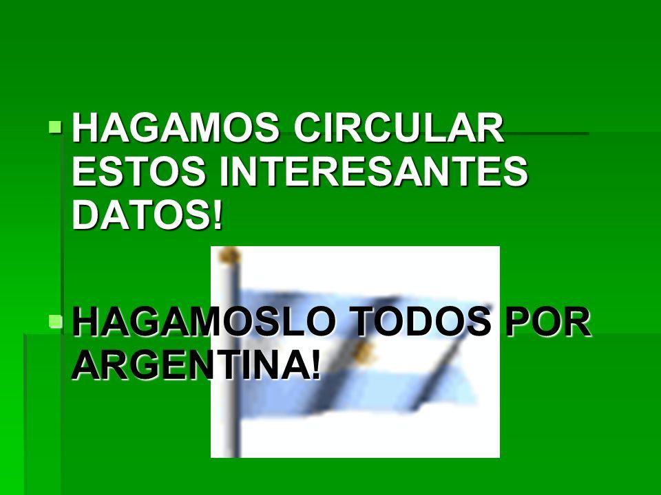 HAGAMOS CIRCULAR ESTOS INTERESANTES DATOS!
