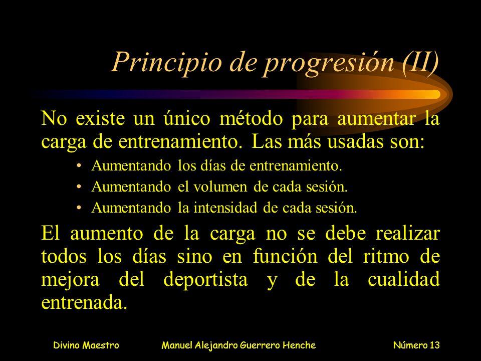 Principio de progresión (II)