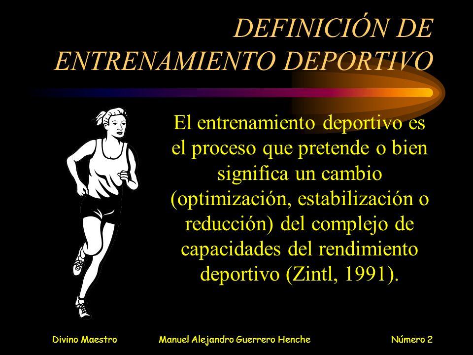 DEFINICIÓN DE ENTRENAMIENTO DEPORTIVO
