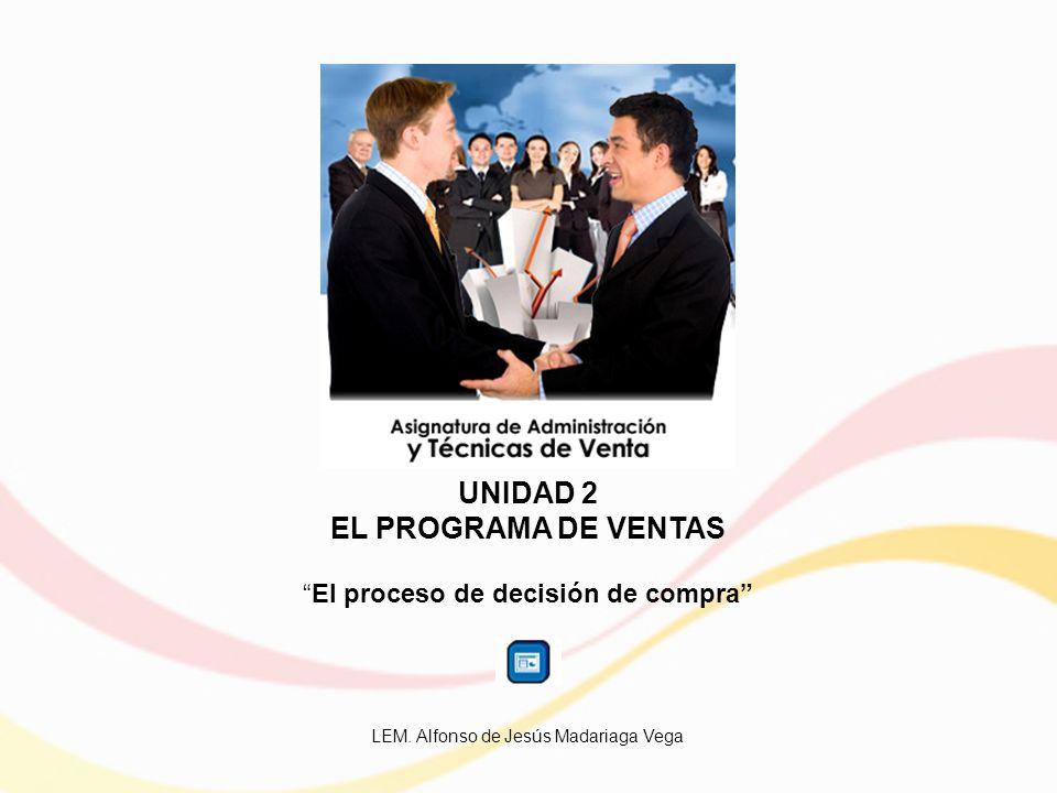 UNIDAD 2 EL PROGRAMA DE VENTAS