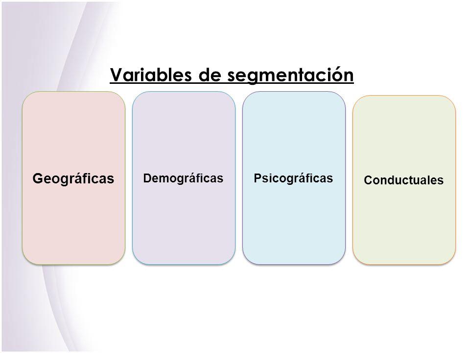 Variables de segmentación