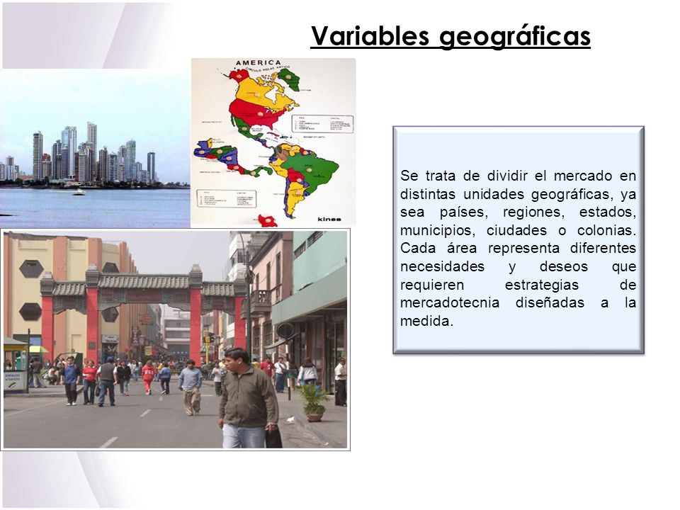 Variables geográficas
