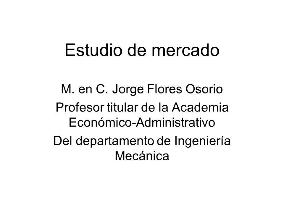 Estudio de mercado M. en C. Jorge Flores Osorio