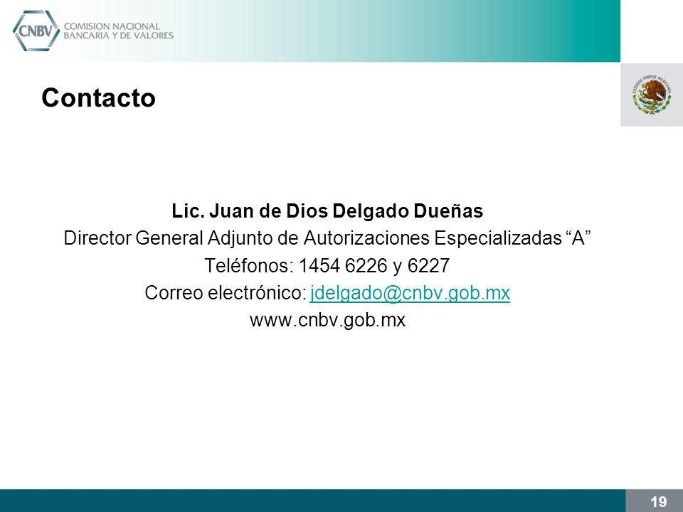 Lic. Juan de Dios Delgado Dueñas