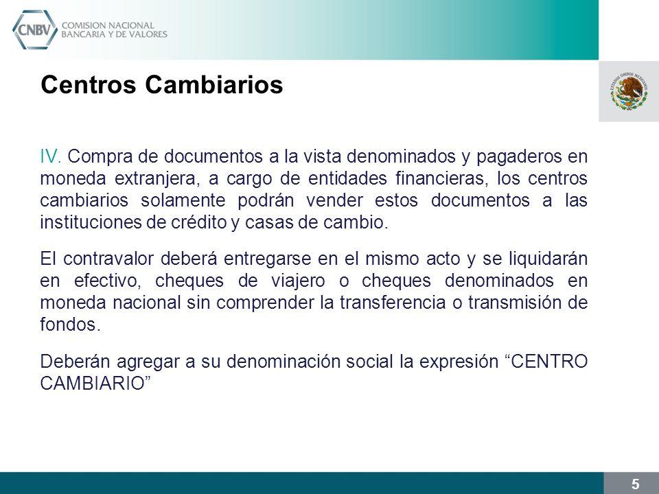 Centros Cambiarios
