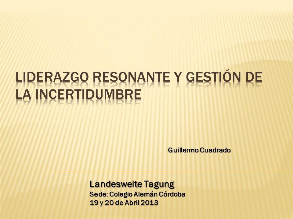LIDERAZGO RESONANTE Y GESTIÓN DE LA INCERTIDUMBRE