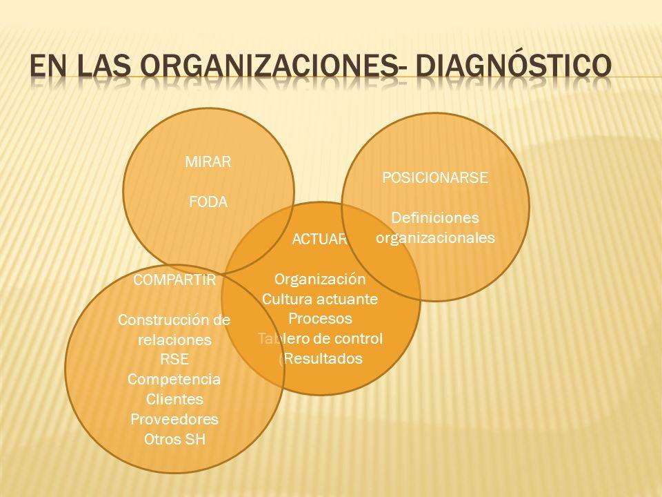 EN las organizaciones- DIAgnóstico