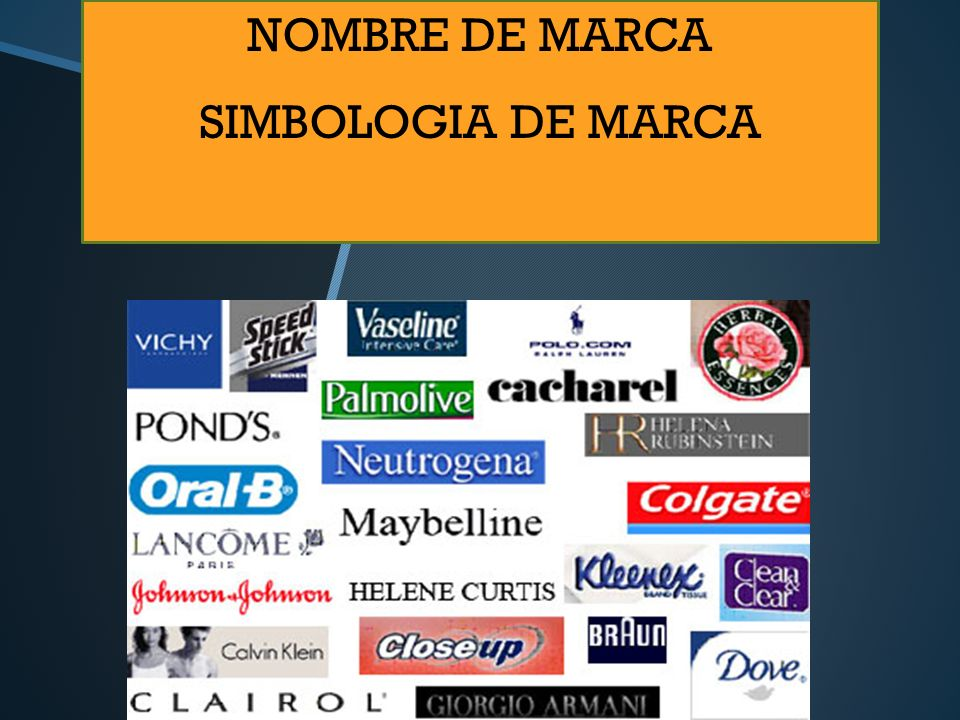 NOMBRE DE MARCA SIMBOLOGIA DE MARCA