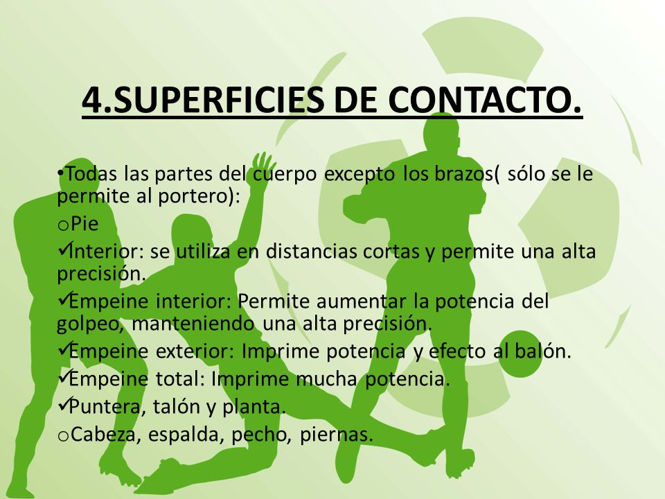 4.SUPERFICIES DE CONTACTO.