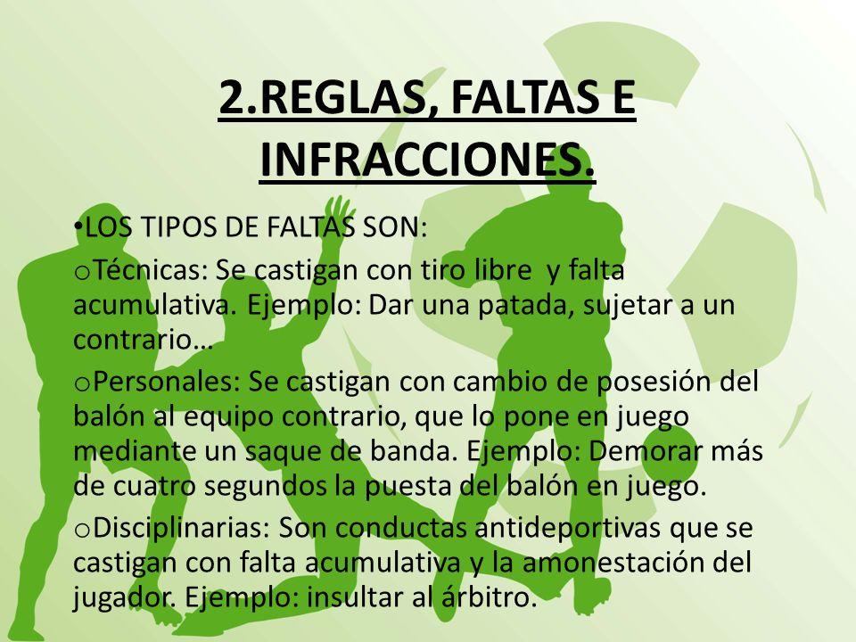 2.REGLAS, FALTAS E INFRACCIONES.