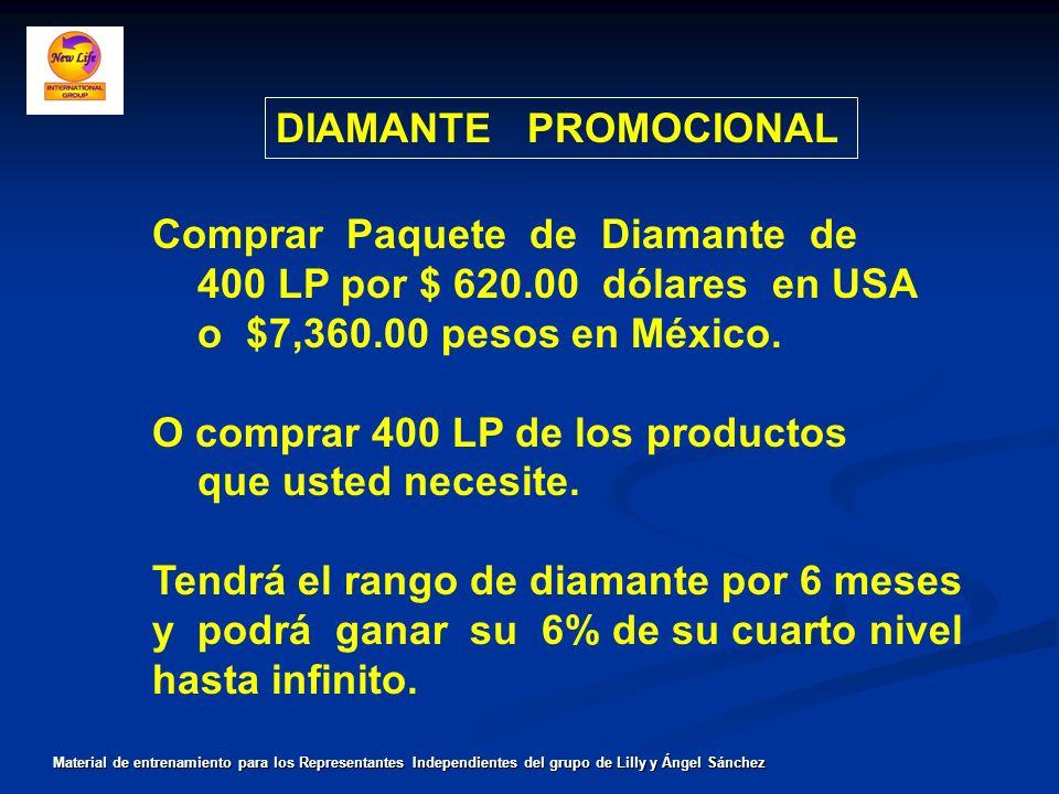 Comprar Paquete de Diamante de 400 LP por $ 620.00 dólares en USA