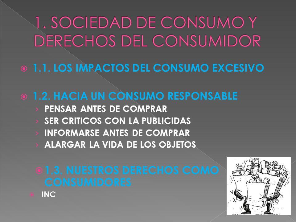 1. SOCIEDAD DE CONSUMO Y DERECHOS DEL CONSUMIDOR