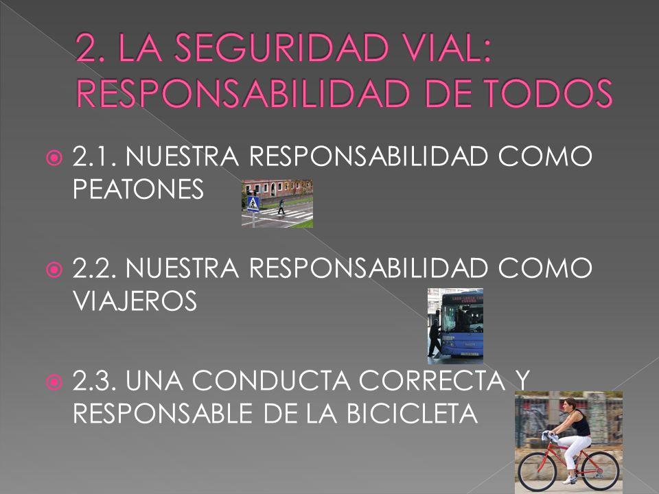 2. LA SEGURIDAD VIAL: RESPONSABILIDAD DE TODOS