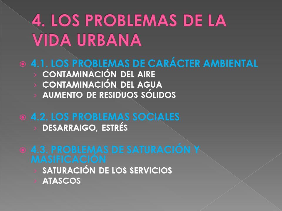 4. LOS PROBLEMAS DE LA VIDA URBANA