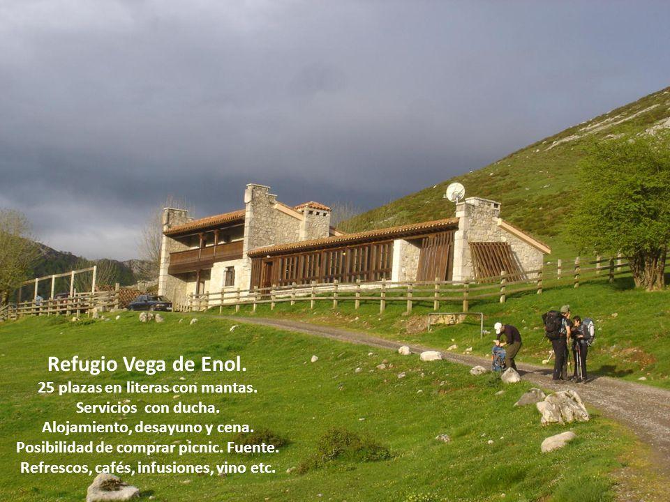 Refugio Vega de Enol. 25 plazas en literas con mantas.