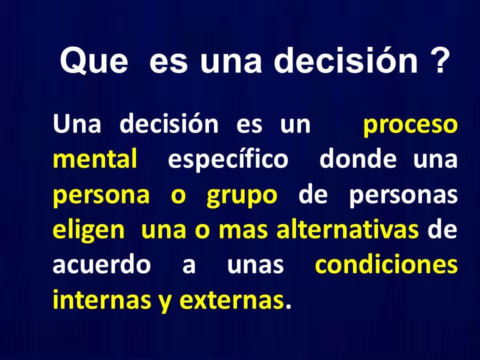 Que es una decisión