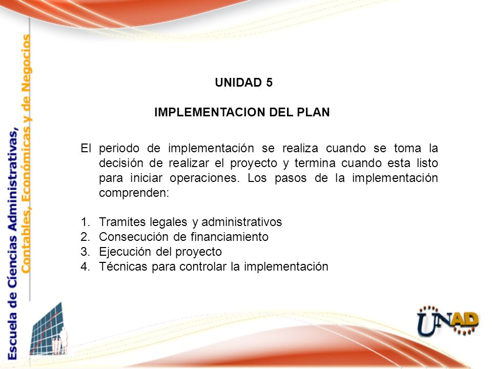 IMPLEMENTACION DEL PLAN