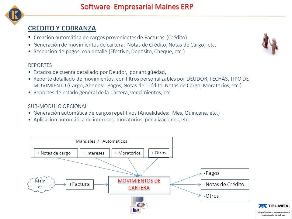 Creación automática de cargos provenientes de Facturas (Crédito)