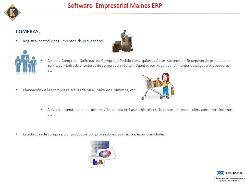 COMPRAS.- Registro, control y seguimientos de proveedores.