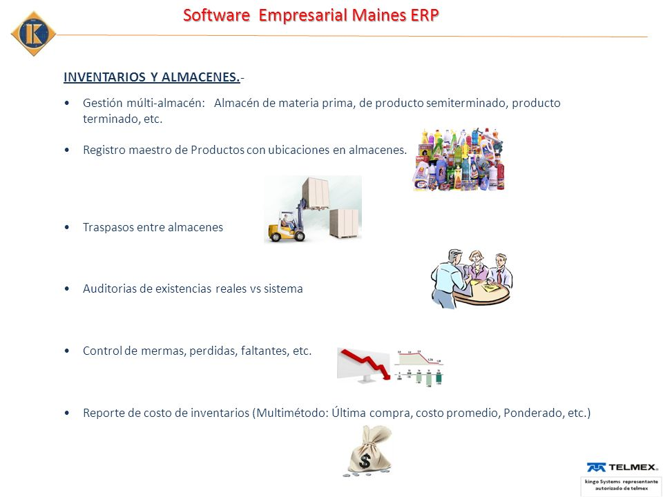 INVENTARIOS Y ALMACENES.-