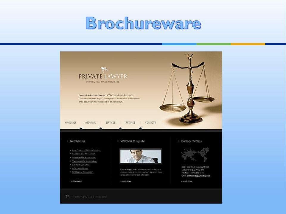 Brochureware
