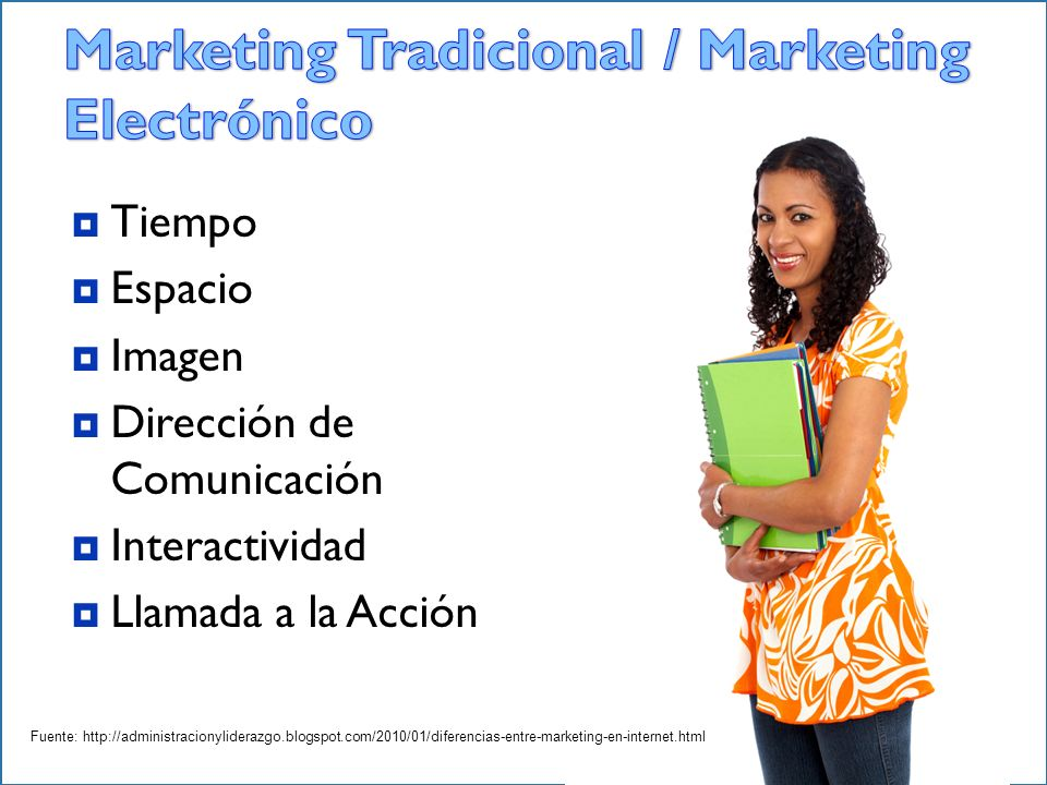 Marketing Tradicional / Marketing Electrónico