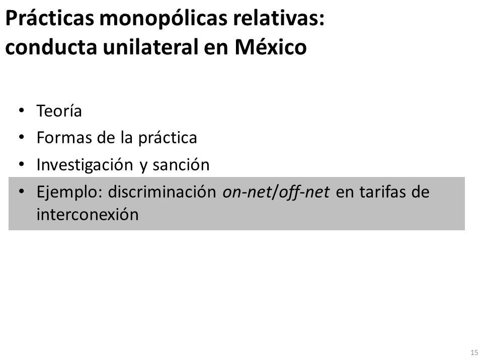 Prácticas monopólicas relativas: conducta unilateral en México