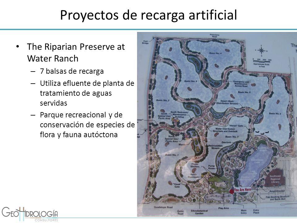 Proyectos de recarga artificial