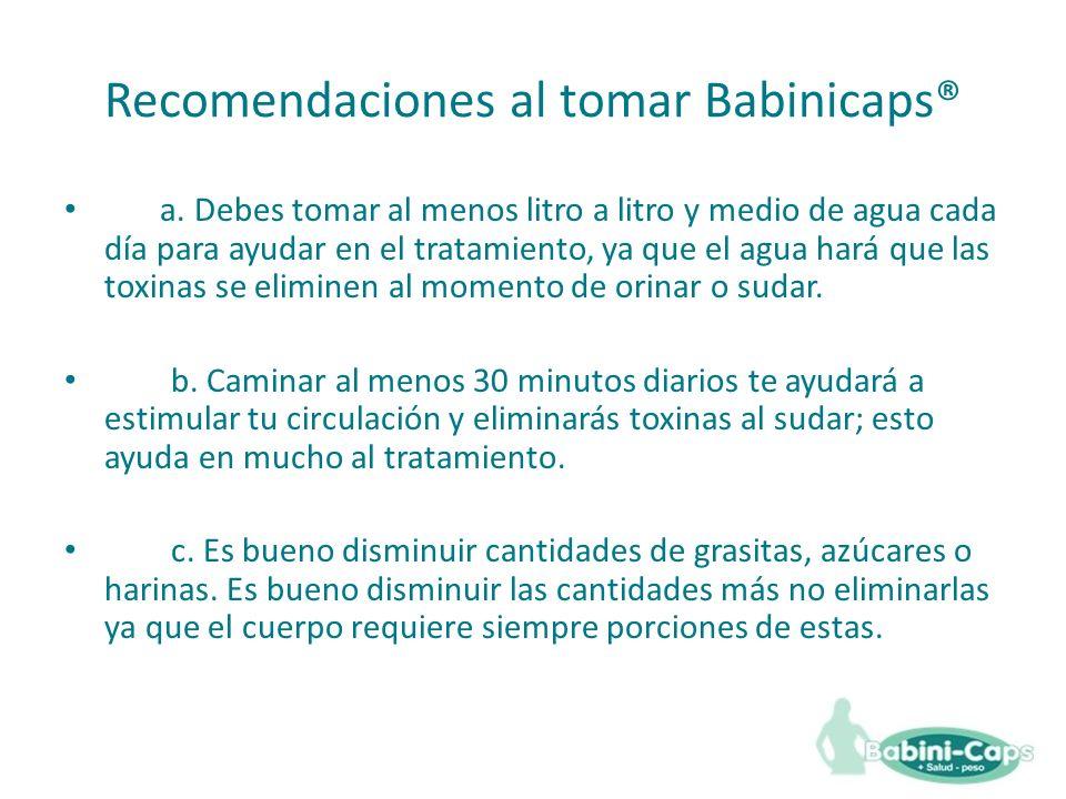 Recomendaciones al tomar Babinicaps®