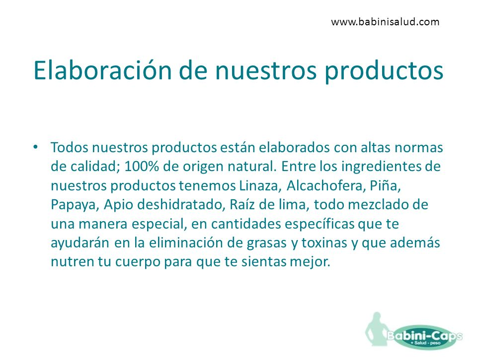 Elaboración de nuestros productos