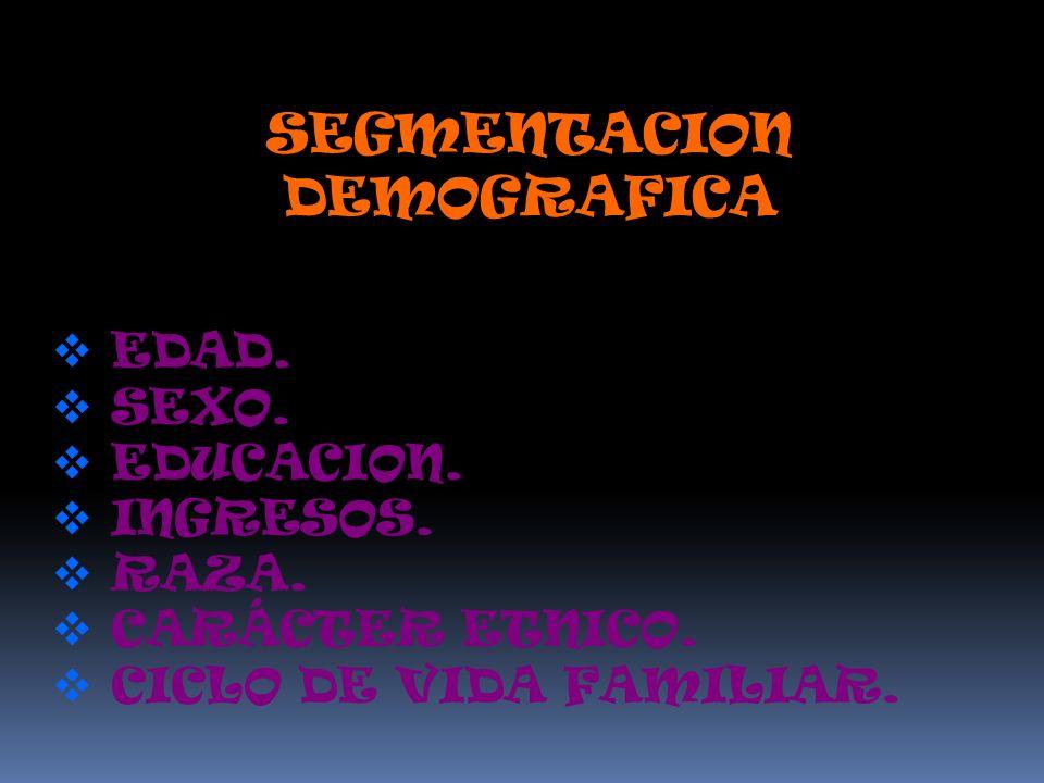 SEGMENTACION DEMOGRAFICA