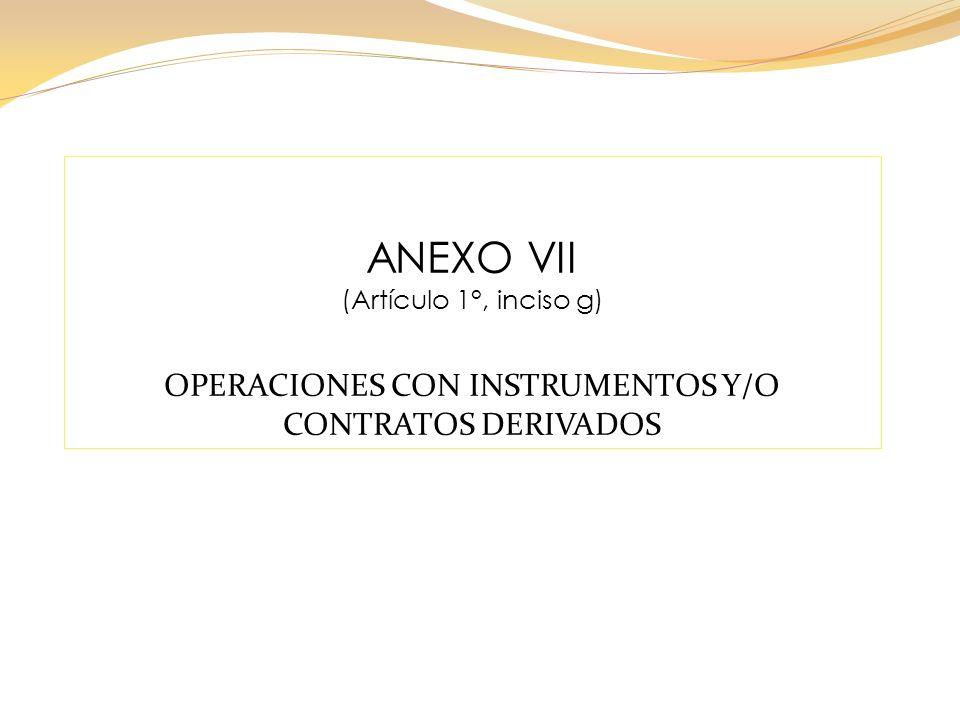 OPERACIONES CON INSTRUMENTOS Y/O CONTRATOS DERIVADOS