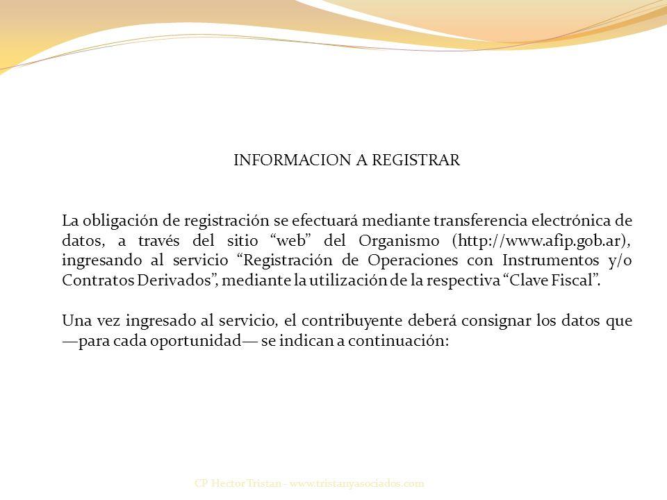 INFORMACION A REGISTRAR