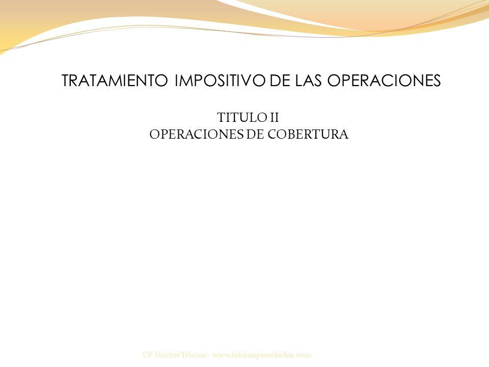 TRATAMIENTO IMPOSITIVO DE LAS OPERACIONES