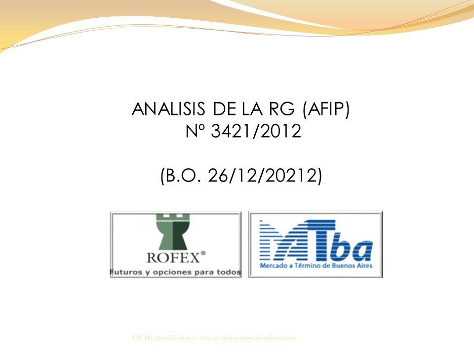 ANALISIS DE LA RG (AFIP)