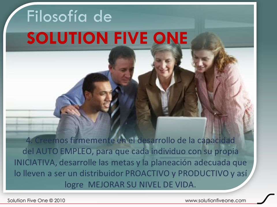 Filosofía de SOLUTION FIVE ONE