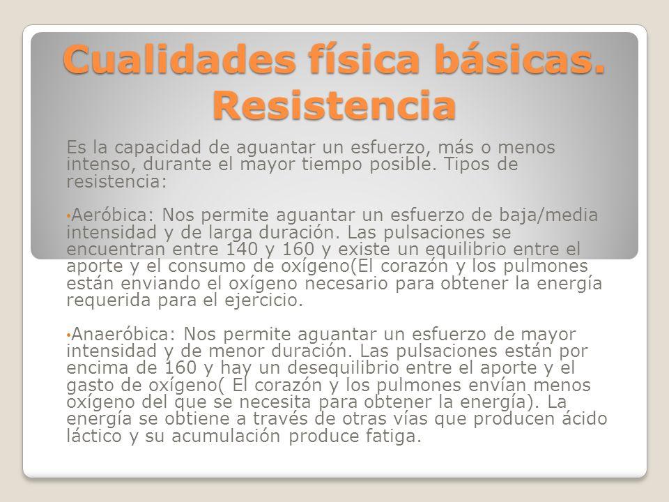 Cualidades física básicas. Resistencia