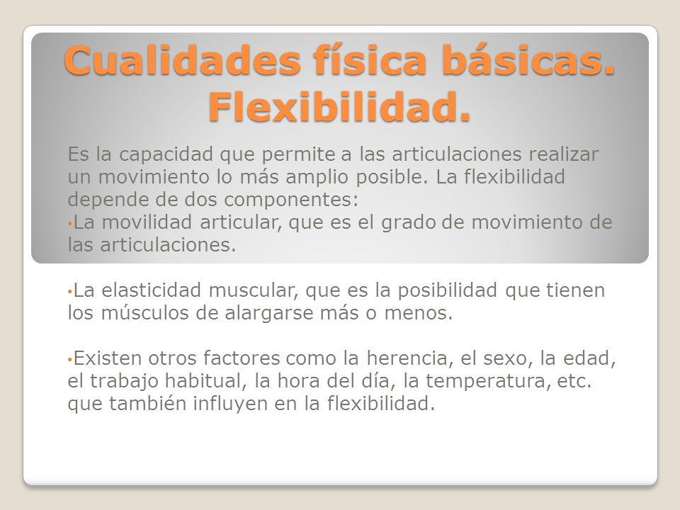 Cualidades física básicas. Flexibilidad.