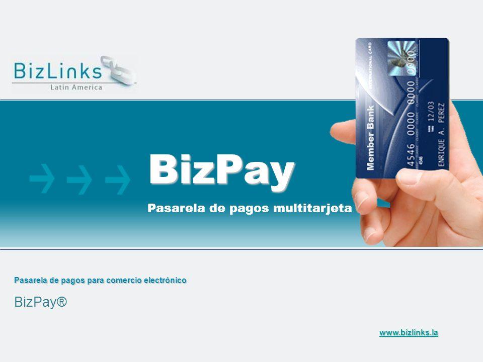 Pasarela de pagos para comercio electrónico