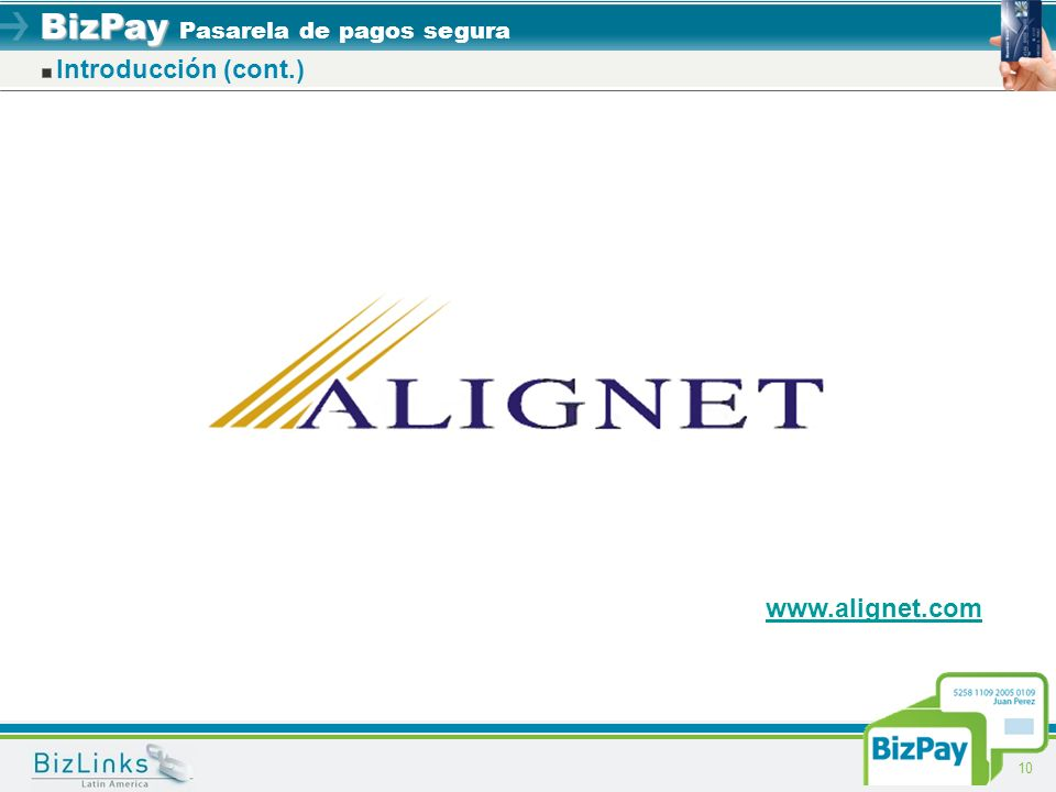 Introducción (cont.) www.alignet.com