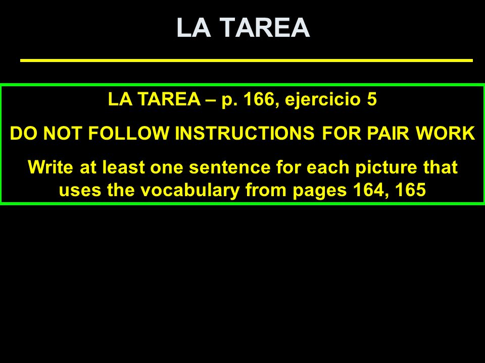 DO NOT FOLLOW INSTRUCTIONS FOR PAIR WORK