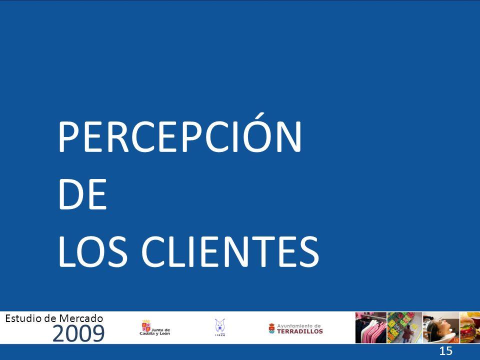 PERCEPCIÓN DE LOS CLIENTES 2009 Estudio de Mercado