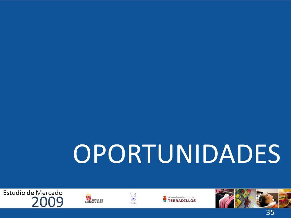 OPORTUNIDADES 2009 Estudio de Mercado