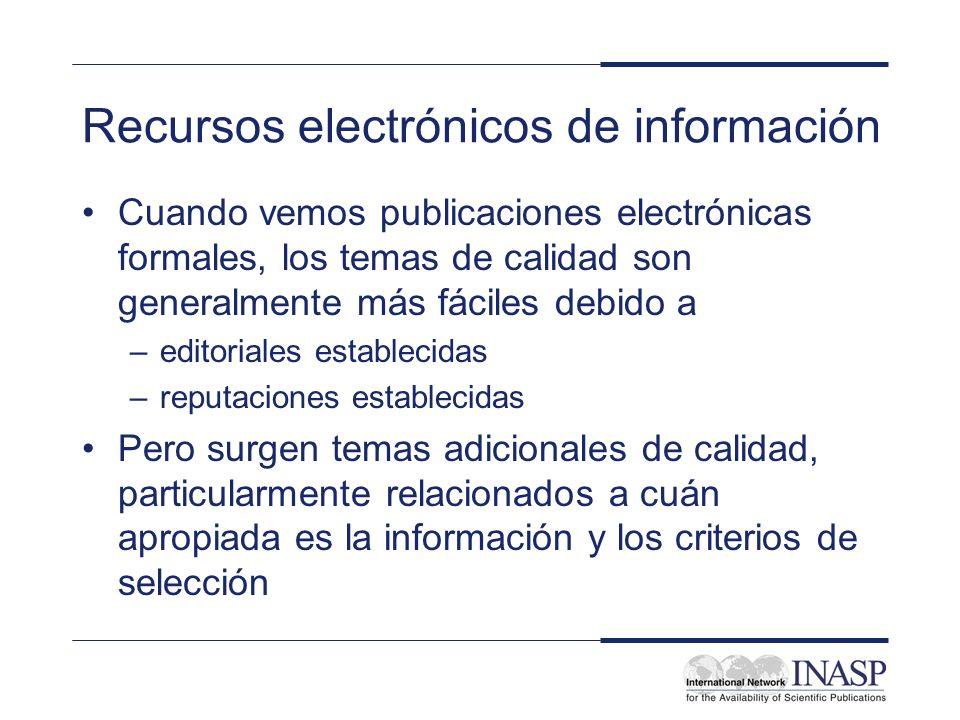 Recursos electrónicos de información