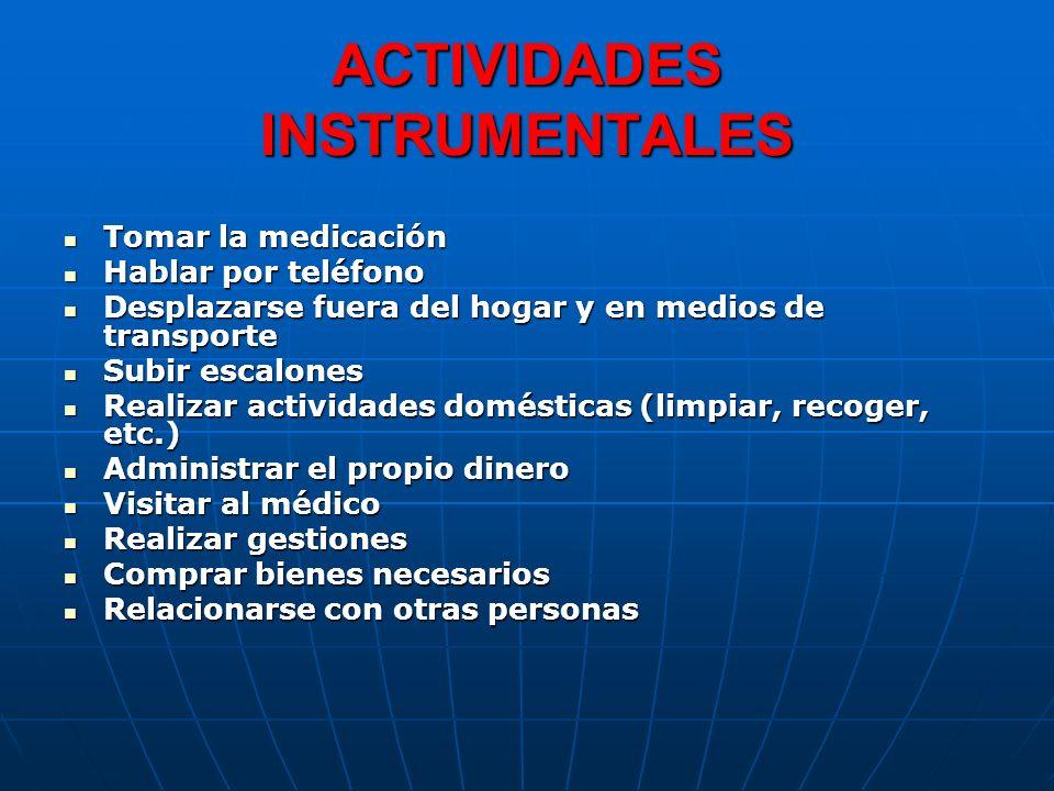 ACTIVIDADES INSTRUMENTALES