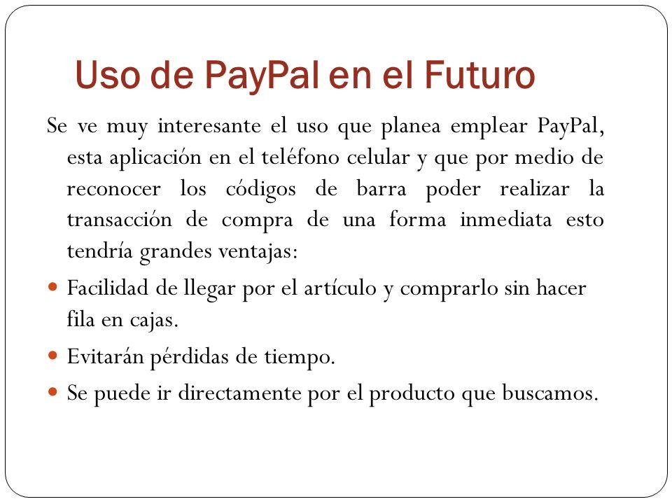 Uso de PayPal en el Futuro